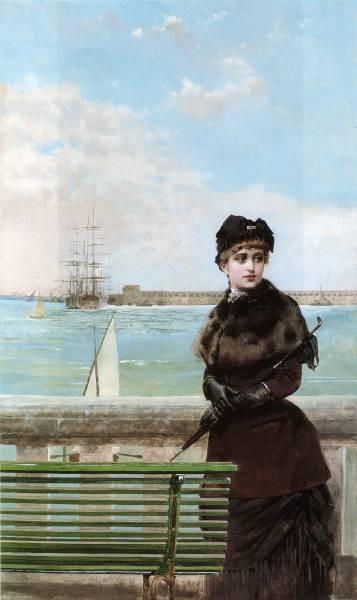 An elegant Woman at St Malo